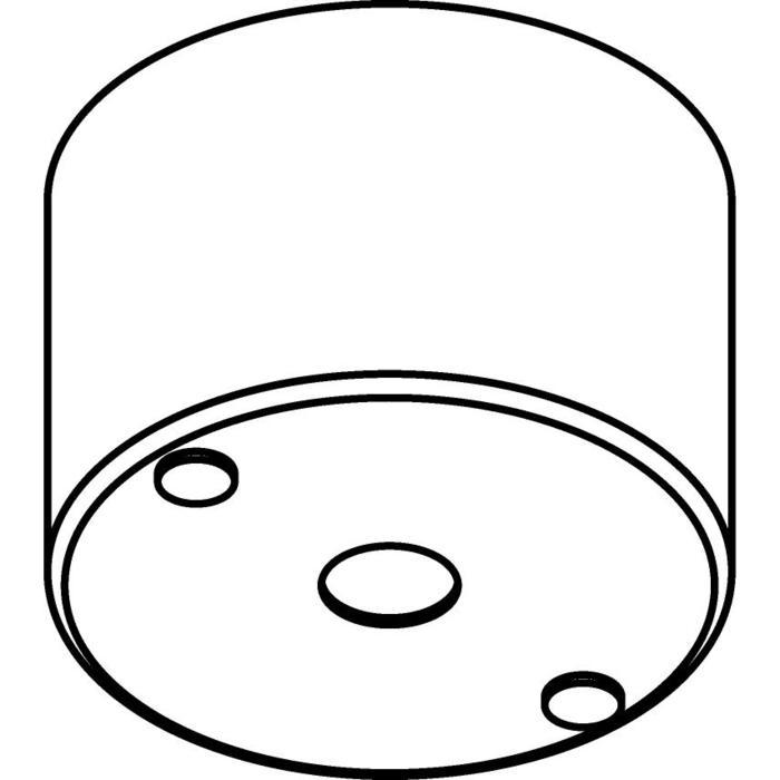 Drawing of 035/.. - ROZET VOOR PENDEL, opbouwbasis voor pendel - rond - met bolgewricht  B3 - met LED driver