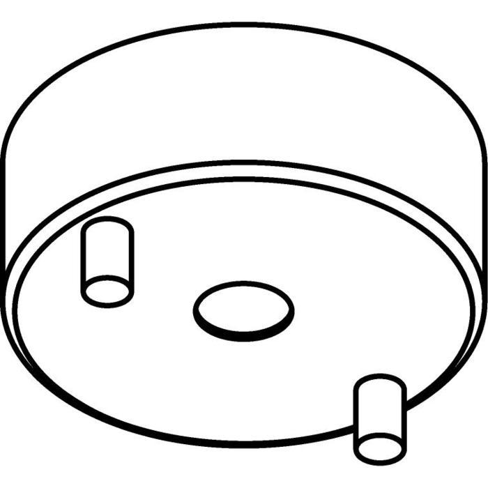 Drawing of 042/.. - ROZET VOOR OPBOUWSPOT, opbouwbasis voor opbouwspot - rond