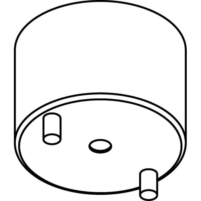 Drawing of 043/.. - ROZET VOOR OPBOUWSPOT, opbouwbasis voor opbouwspot - rond - met LED driver