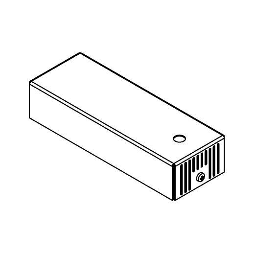 Drawing of 046.350MA/.. - BASIS VOOR OPBOUWSPOT, rechthoekige basis voor opbouwspot - met LED driver