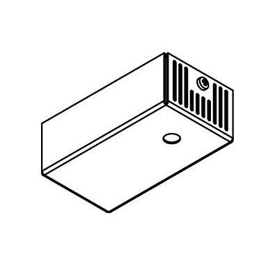 Drawing of 044.500MA/.. - BASIS VOOR OPBOUWSPOT, rechthoekige basis voor opbouwspot - met LED driver