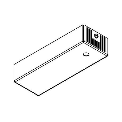 Drawing of 046.500MA/.. - BASIS VOOR OPBOUWSPOT, rechthoekige basis voor opbouwspot - met LED driver