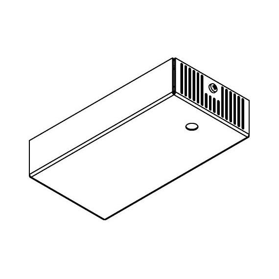 Drawing of 048.1050MA/.. - BASIS VOOR OPBOUWSPOT, rechthoekige basis voor opbouwspot - met LED driver