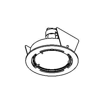Drawing of ZIA50.ES50/.. - Ø63, inbouwspot voor verandaprofielen - rond - voor hispot 50W GU10