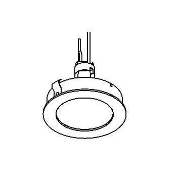 Drawing of CASTOBY/.. - Ø70 SYSTEM, inbouwcassette - rond - vast - zonder transfo