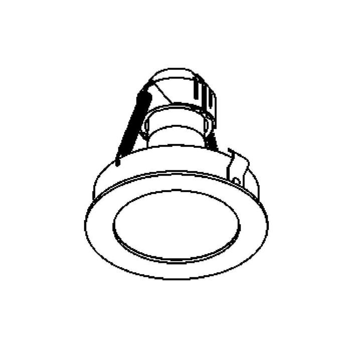 Drawing of CASTOBY.ES50/.. - Ø70 SYSTEM, inbouwcassette - rond - vast