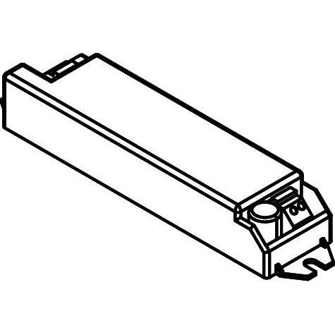 Drawing of TR89800255/.. - DRIVER, driver - vierkant - LCBI15 350 - 15W 350mA - DIMBAAR FASE AFSNIJDING