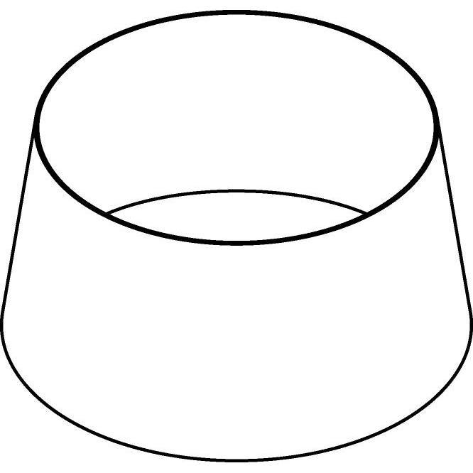 Drawing of HH353018/.. - HALFHOOG STAANLAMP, lampenkap