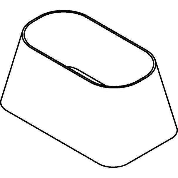 Drawing of RHR252213/.. - RECHTHOEKROND, lampenkap