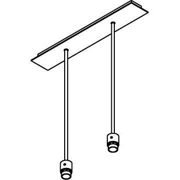 Drawing of 5012/.. - MAESTRO FOR SHADE, hanglamp met bolgewricht - stang inkortbaar - voor lampenkap