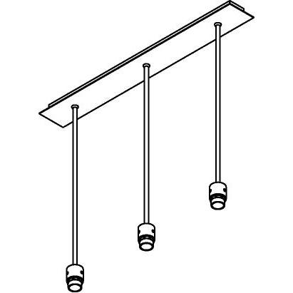 Drawing of 5013/.. - MAESTRO FOR SHADE, hanglamp met bolgewricht - stang inkortbaar - voor lampenkap