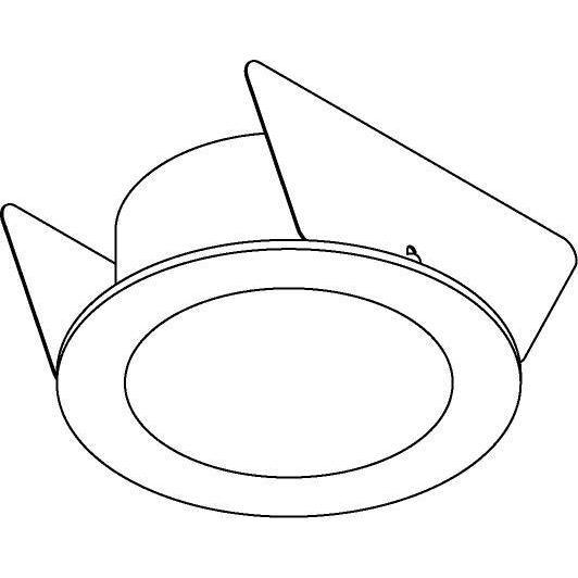 Drawing of 1625C/.. - MIA ROND, inbouw wandlicht - met opale plexi (OP)