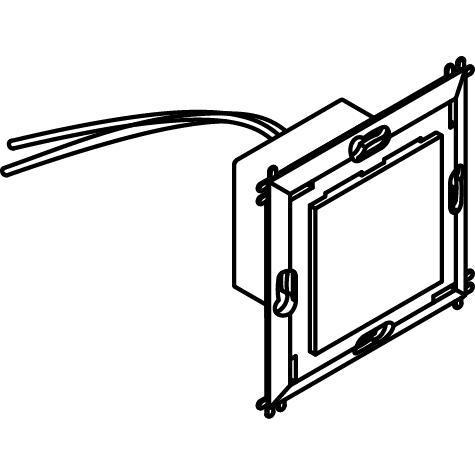 Drawing of 1637C.230V/.. - BRUNA voor bticino LivingLight, inbouw wandlicht