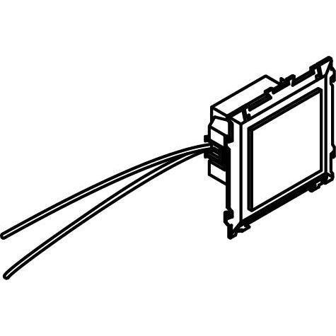 Drawing of 1638.230V/.. - BRUNA voor bticino LivingLight, inbouw wandlicht