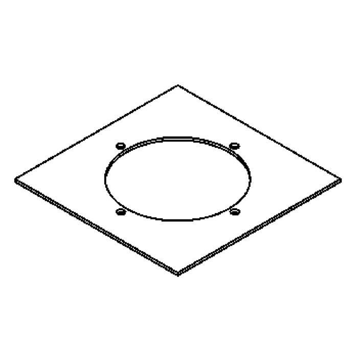 Drawing of 1142.130/.. - LAVA - ETNA, accessoires voor grondspot - afdekplaat