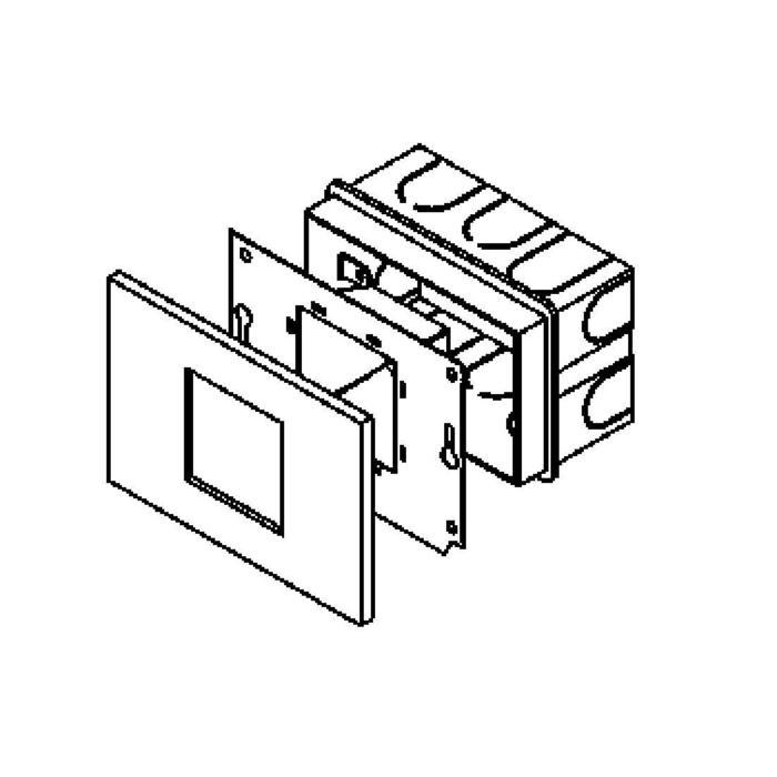 Drawing of 1631C/.. - MIA, inbouw wandlicht - compleet met frontplaat
