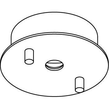 Drawing of 037.B3.D8,3/.. - ROSETTE UP, opbouwrozet - voor pendel met bolgewricht B3 - voor tige Ø8mm