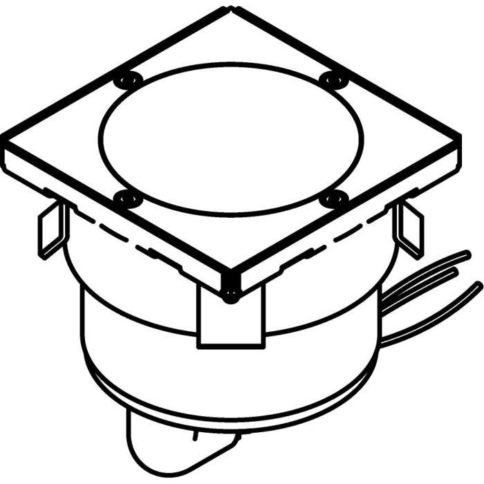 Drawing of 3310.9/.. - MAGMA TYPE 1 = even with the floor, uitneembare grondspot met inwerkkader gelijk met de bevloering - vast