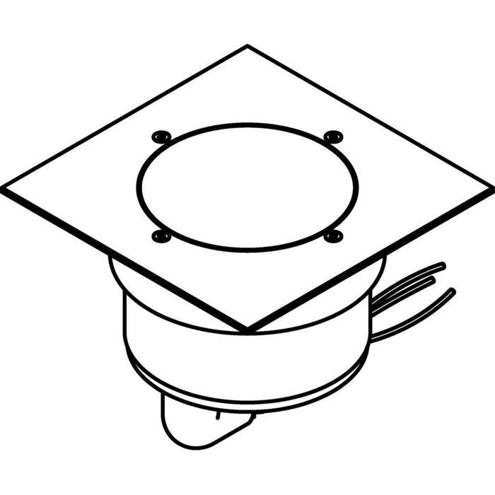 Drawing of 3312.5.130/.. - MAGMA TYPE 1  cover on the floor, uitneembare grondspot met afdekkader 130x130 op de bevloering - vast