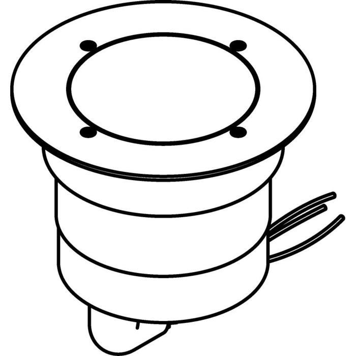 Drawing of 3321.9.130/.. - MAGMA TYPE 2  cover on the floor, uitneembare grondspot met afdekkader Ø130 op de bevloering - vast - zonder transfo