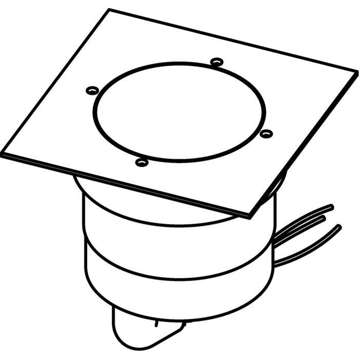 Drawing of 3331.9.130/.. - MAGMA TYPE 2  cover on the floor, uitneembare grondspot met afdekkader 130x130 op de bevloering - vast - zonder transfo