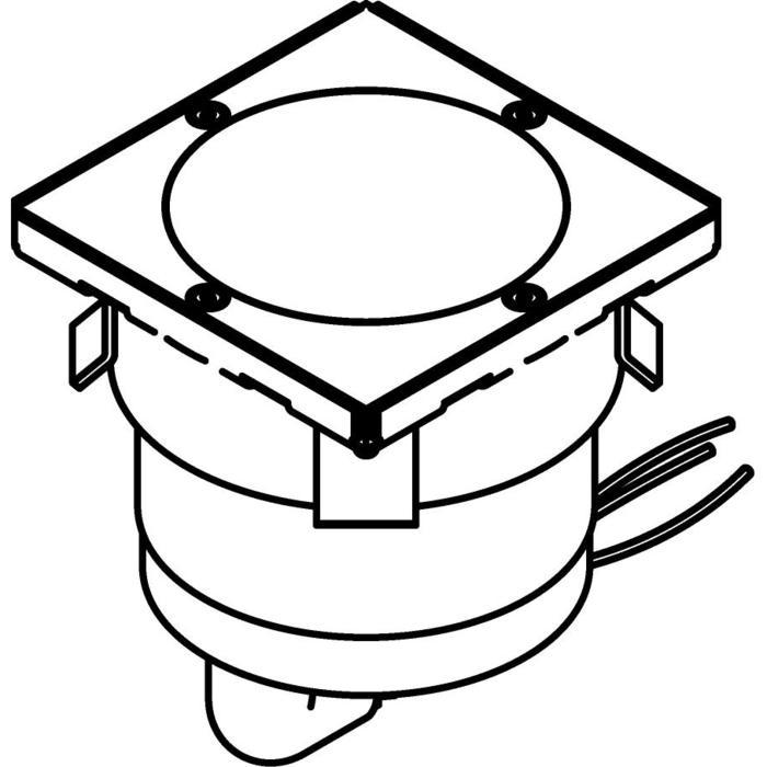 Drawing of 3328.5/.. - MAGMA TYPE 2 = even with the floor, uitneembare grondspot met inwerkkader gelijk met de bevloering - vast - met LED driver