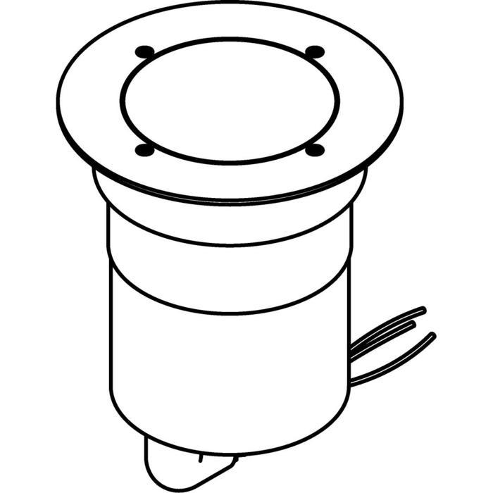 Drawing of 3341.9.130/.. - MAGMA TYPE 3  cover on the floor, uitneembare grondspot met afdekkader Ø130 op de bevloering - vast - zonder transfo