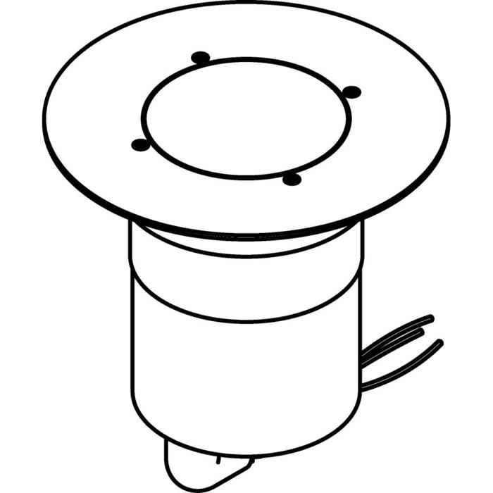 Drawing of 3343.5.130/.. - MAGMA TYPE 3  cover on the floor, uitneembare grondspot met afdekkader Ø130 op de bevloering - vast - met LED driver