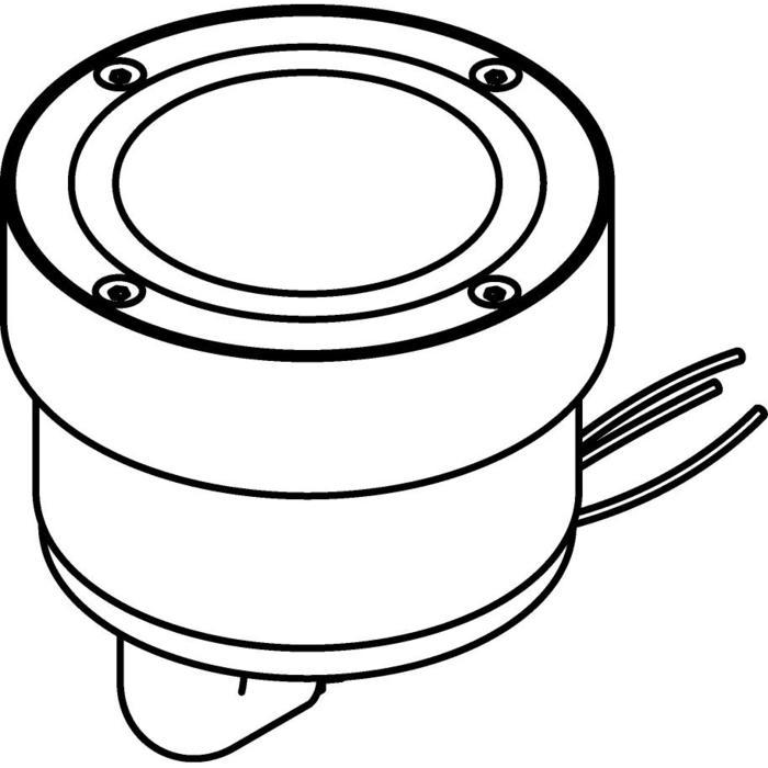 Drawing of 3305.X/.. - MAGMA TYPE 1 = even with the floor, uitneembare grondspot met inwerkkader gelijk met de bevloering - vast
