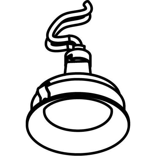 Drawing of CASBOMBAC/.. - Ø80 SYSTEM, inbouwcassette - rond - vast - zonder transfo
