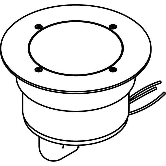Drawing of 3308.X/.. - MAGMA TYPE 1  cover on the floor, uitneembare grondspot met afdekkader op de bevloering - vast