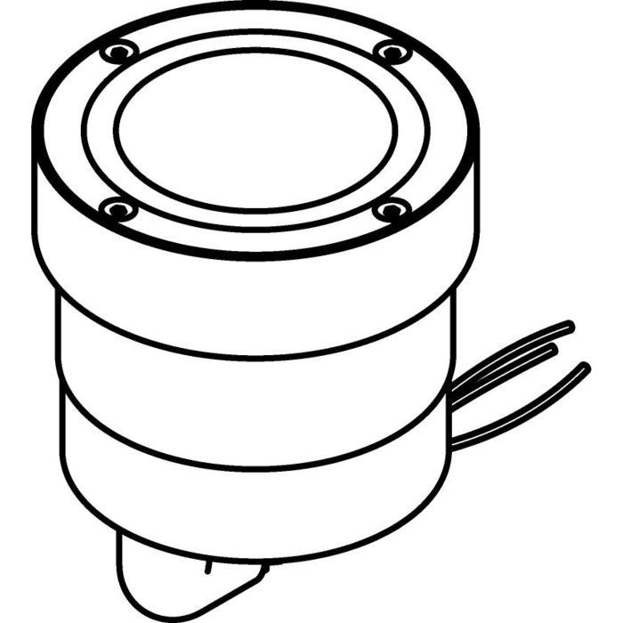 Drawing of 3315.X./.. - MAGMA TYPE 2 = even with the floor, uitneembare grondspot met inwerkkader gelijk met de bevloering - vast