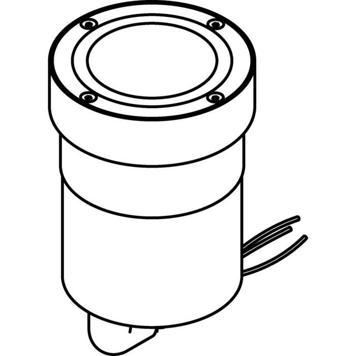 Drawing of 3334.X/.. - MAGMA TYPE 3 = even with the floor, uitneembare grondspot met inwerkkader gelijk met de bevloering - vast