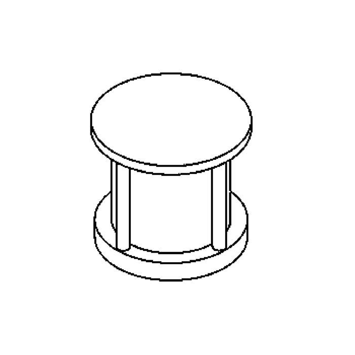 Drawing of 1145/.. - LAVA - ETNA, accessoires voor grondspot - kop die rondomrond licht geeft