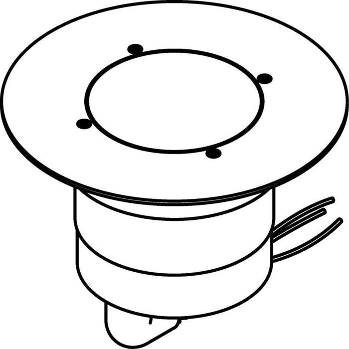 Drawing of 3322.9.160/.. - MAGMA TYPE 2  cover on the floor, uitneembare grondspot met afdekkader Ø160 op de bevloering - richtbaar - zonder transfo