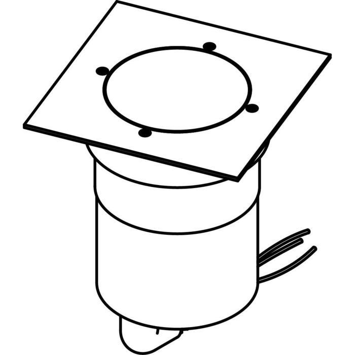 Drawing of 3350.9.130/.. - MAGMA TYPE 3  cover on the floor, uitneembare grondspot met afdekkader 130x130 op de bevloering - richtbaar
