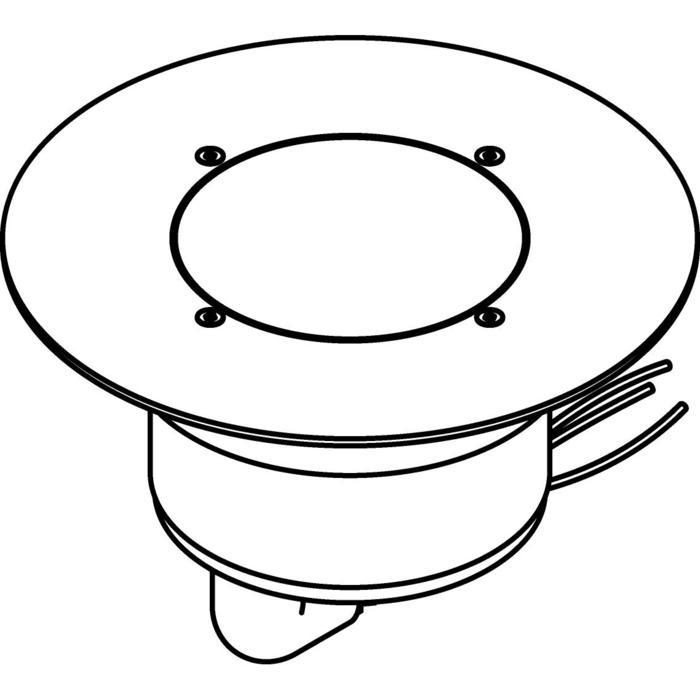 Drawing of 3309.9.160/.. - MAGMA TYPE 1  cover on the floor, uitneembare grondspot met afdekkader Ø160 op de bevloering - vast - met LED driver