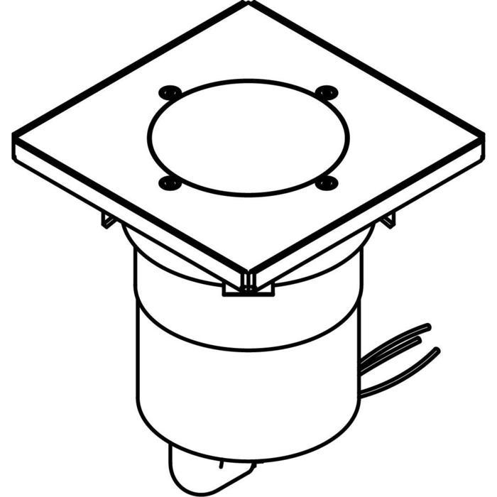 Drawing of 3363.9/.. - MAGMA TYPE 3 = even with the floor, uitneembare grondspot met inwerkkader gelijk met de bevloering - richtbaar - zonder transfo