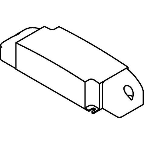 Drawing of CLK20.1050P/.. - DRIVER, driver - 20W - 1050mA - DIMBAAR FASE AFSNIJDING