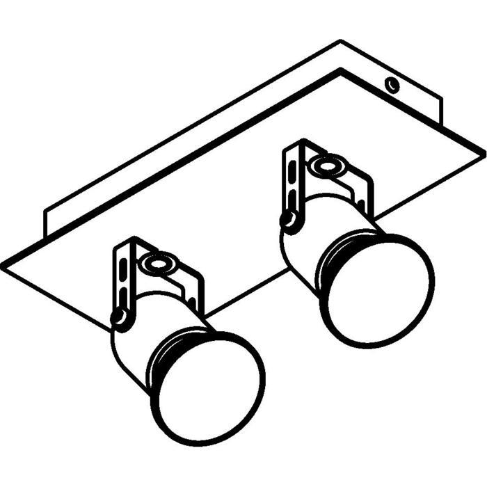 Drawing of 3212/.. - VICTOR, opbouw plafondverlichting - richtbaar - met basis Texo