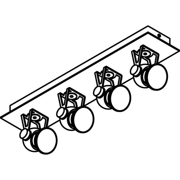 Drawing of 3234/.. - RINGO, opbouw plafondverlichting - richtbaar - met basis Texo