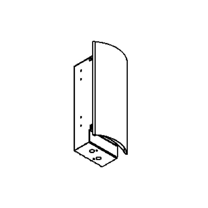 Drawing of 1298ALED/.. - LIMA LED, inbouw wandlicht - standaard opale plexi  met led