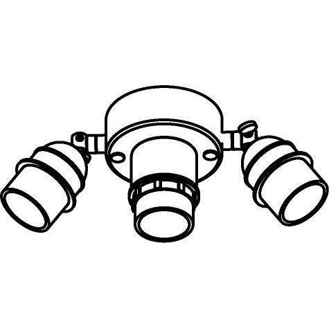 Drawing of 5009/.. - MAESTRO, plafondverlichting voor lampenkap - met E27 fitting met scharnier