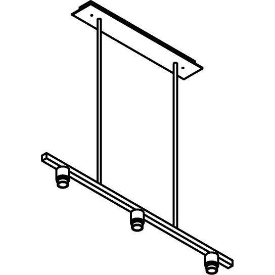 Drawing of 5015.3/.. - MAESTRO FOR SHADE, hanglamp met bolgewricht - stang inkortbaar