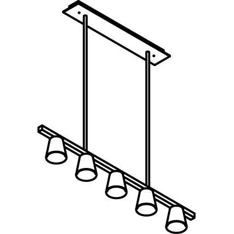 Drawing of 5031/.. - PIVA PENDANT, hanglamp met bolgewricht en opbouwdoos