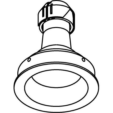 Drawing of CASJOJO.ES50/.. - Ø80 SYSTEM, inbouwcassette - rond - vast