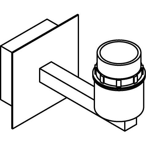 Drawing of 5034SH/.. - MAESTRO, built-up wall light - fixed - with E27 lampholder