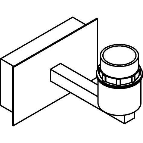 Drawing of 5035SH/.. - MAESTRO, opbouw wandlicht - vast - met E27 fitting