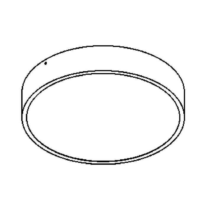 Drawing of 541.SEN/.. - MONET ROND LED, opbouw plafondverlichting - polycarbonaat - met ingebouwde sensor - met LED driver