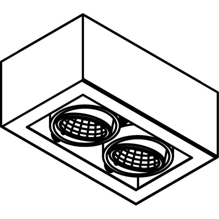 Drawing of 1982.IP20/.. - LUXOR UP XICATO, opbouw plafondverlichting - richtbaar - down - met led - zonder LED driver